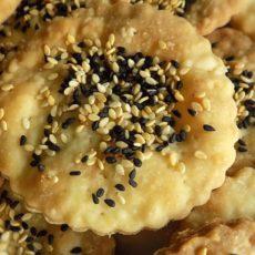 Nigella& Sesame Seed Olive Oil Crackers
