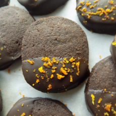 Slice-and-Bake Orange Flavored Cocoa Cookies