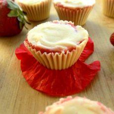 2 Ingredient Frozen Strawberry White Chocolate Cups