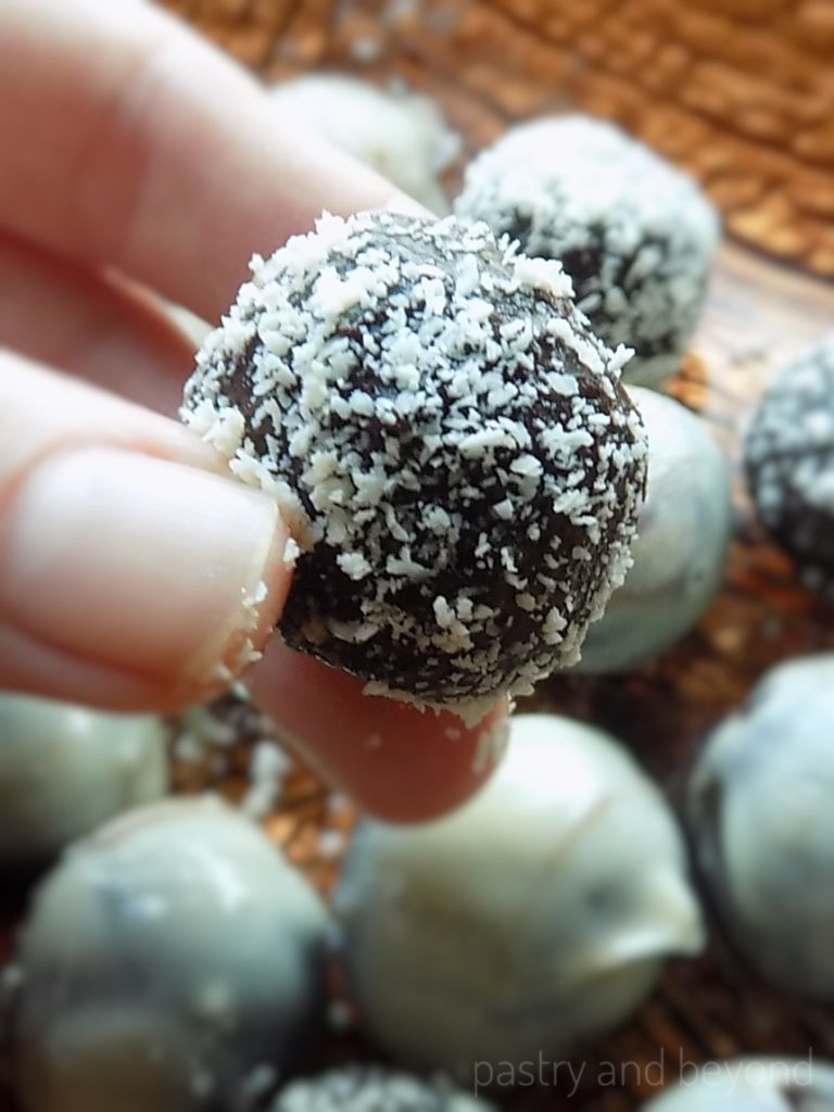 White Chocolate Covered Mint Truffles
