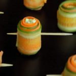 Healthy carrot cucumber rolls